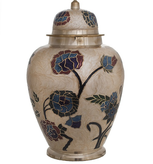 beautiful floral cremation urn