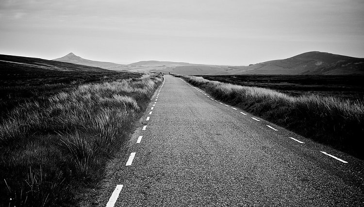 a long straight road