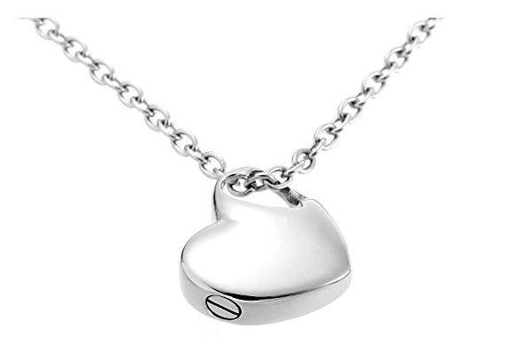 hold my heart pendant cremation jewelry urn necklace with funnel