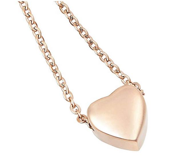simple small heart cremation urn necklace ashes