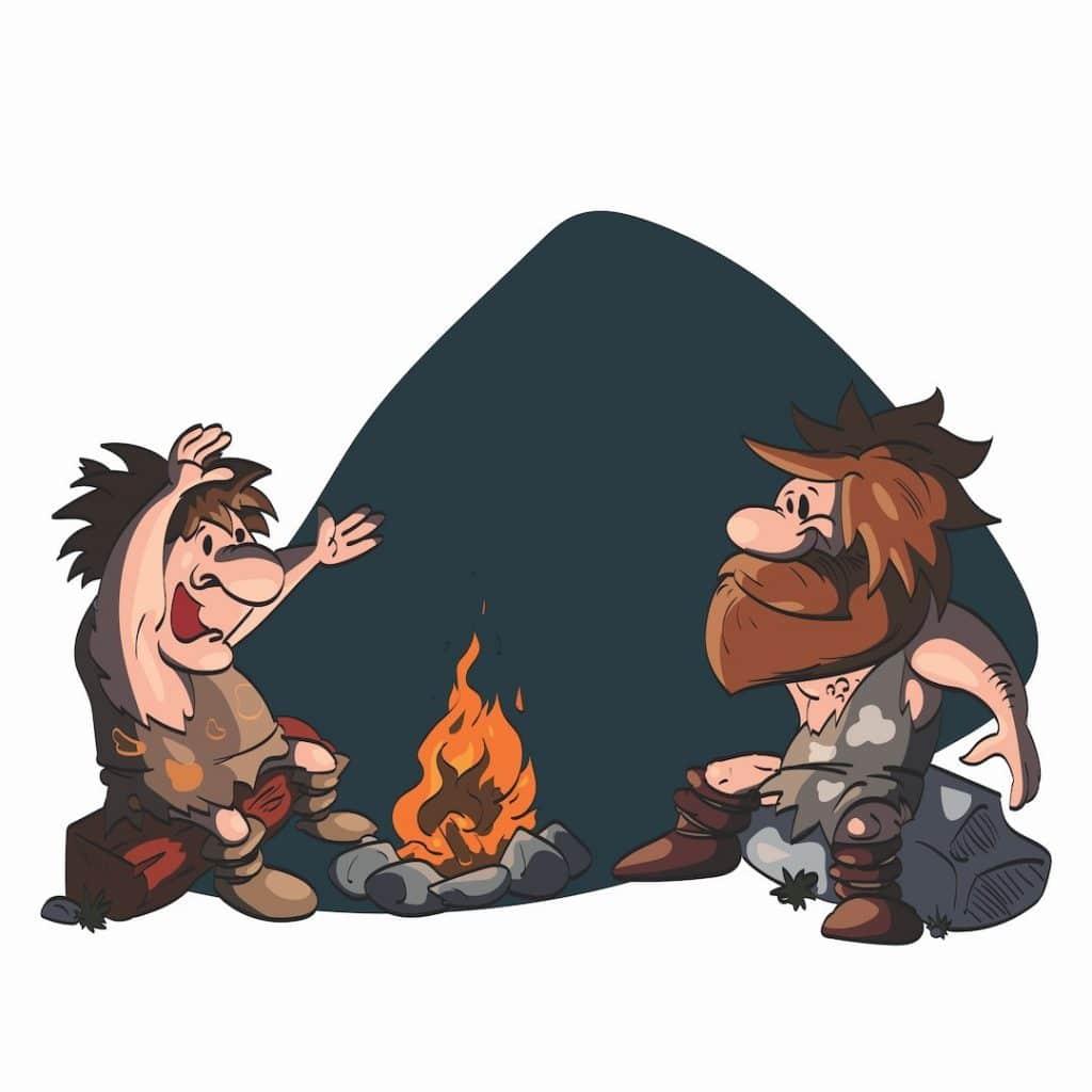cavemen communicating